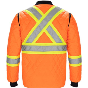 Men's Hi Vis Quilted Jacket