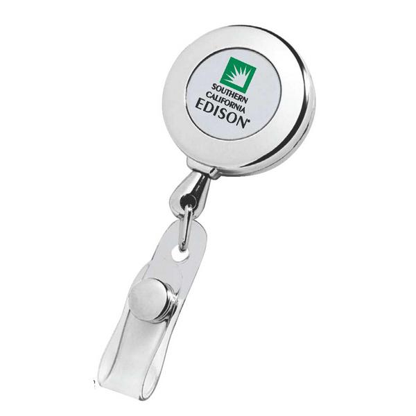 Circle Chrome Retractable Badge Holder | D'Costa Marketing